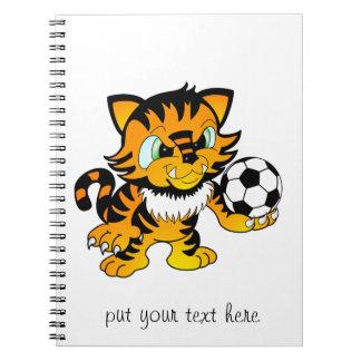 サッカーのトラ ノートブック
