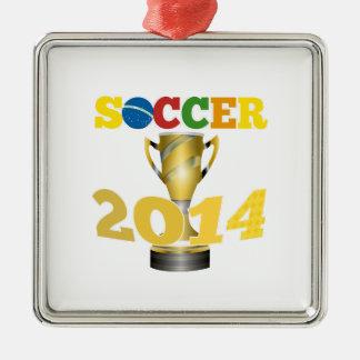 サッカーのトロフィ2014年 メタルオーナメント