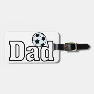 サッカーのパパ ラゲッジタグ
