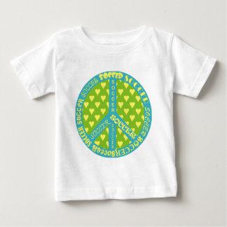 サッカーのピースサインフレーム ベビーTシャツ
