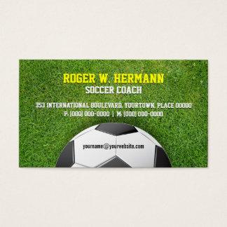 サッカーのフットボールのコーチ 名刺