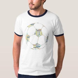 サッカーのフットボールのファンのラベルの雲のワイシャツ Tシャツ