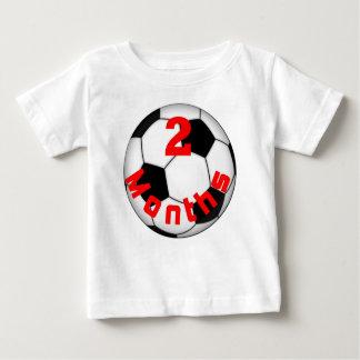 サッカーのフットボールのベビーPictのための2ヶ月のベビーのワイシャツ ベビーTシャツ