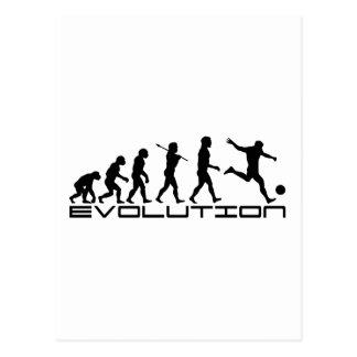 サッカーのフットボールのFutbolのスポーツの進化の芸術 ポストカード