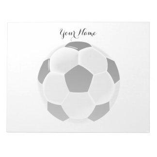 サッカーのフットボールのFutbolの球 ノートパッド