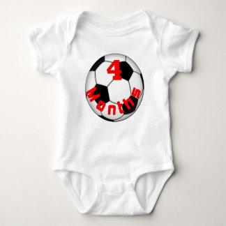 サッカーのフットボールベビーPicturのための4か月のベビーのワイシャツ ベビーボディスーツ