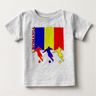 サッカーのルーマニアの軽いTシャツ ベビーTシャツ