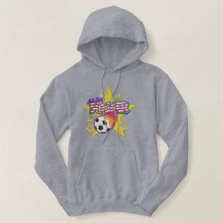 サッカーのロゴ 刺繍入りパーカ