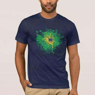 サッカーのワールドカップ: ブラジルの旗 Tシャツ