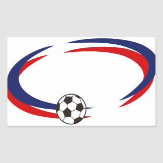 サッカーの一流の低下 長方形シール