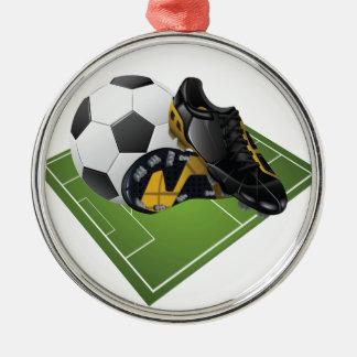 サッカーの優れた円形のオーナメント メタルオーナメント