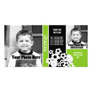 サッカーの写真のスポーツのスケジュール カード