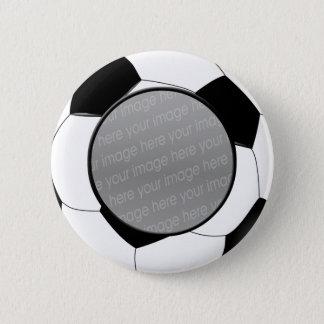 サッカーの写真のバッジ 缶バッジ