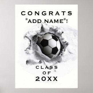 サッカーの卒業 ポスター