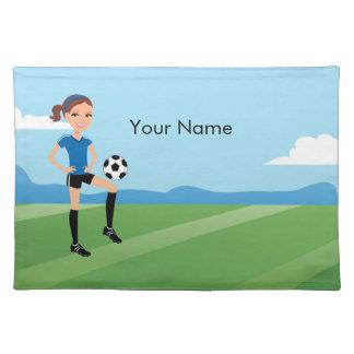 サッカーの女の子のランチョンマット ランチョンマット