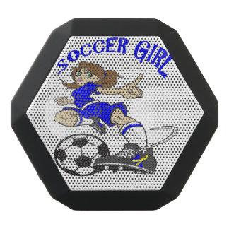 サッカーの女の子の携帯用ステレオ ブラックBluetoothスピーカー