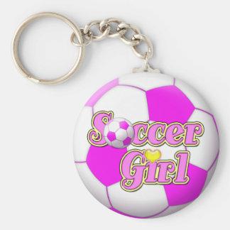 サッカーの女の子Keychain キーホルダー