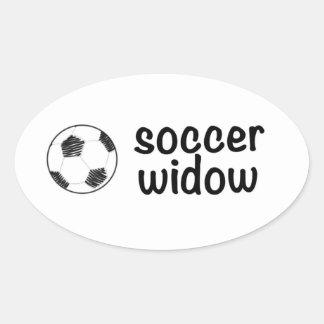 サッカーの寡婦のステッカー 楕円形シール