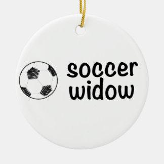 サッカーの寡婦 セラミックオーナメント