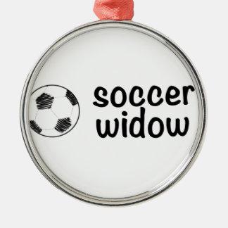 サッカーの寡婦 メタルオーナメント