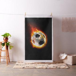 サッカーの火の玉のタペストリーの生地 ファブリック