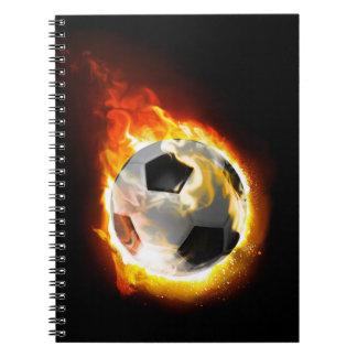 サッカーの火の玉のノート ノートブック