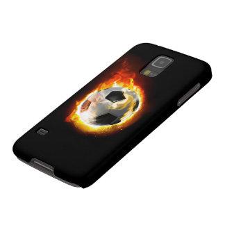 サッカーの火の玉のSamsungの銀河系S5の箱 Galaxy S5 ケース