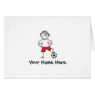 サッカーの男の子のノート ノートカード