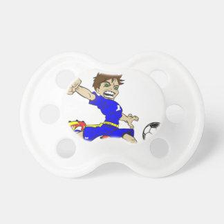 サッカーの男の子 おしゃぶり