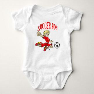 サッカーの男の子 ベビーボディスーツ