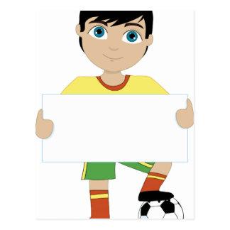 サッカーの男の子 ポストカード