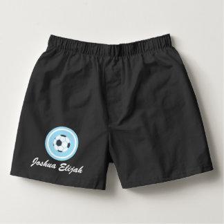 サッカーの男性Boxercraftの綿のボクサーを個人化して下さい ボクサー