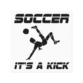 サッカーの蹴り キャンバスプリント