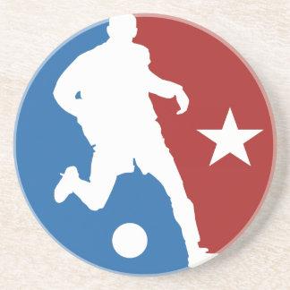 サッカーの選手のカスタムのコースター コースター