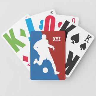 サッカーの選手のカスタムのålayingカード バイスクルトランプ