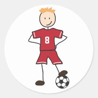サッカーの選手のサッカーの位置のステッカー ラウンドシール