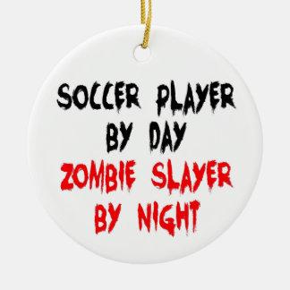 サッカーの選手のゾンビの殺害者 セラミックオーナメント