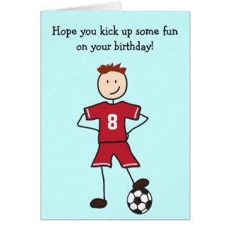 サッカーの選手のハッピーバースデーカード カード