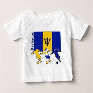 サッカーの選手-バルバドス ベビーTシャツ