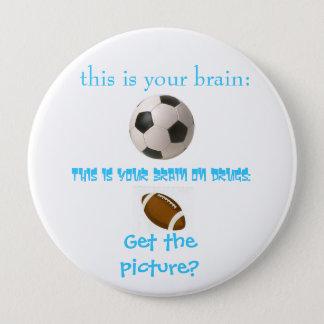 サッカーの頭脳 缶バッジ