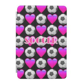 サッカーのEmojiのピンクのiPadの小型頭が切れるなカバー iPad Miniカバー