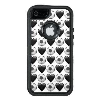 サッカーのEmojiのiPhone SE/5/5sのオッターボックスの場合 オッターボックスディフェンダーiPhoneケース