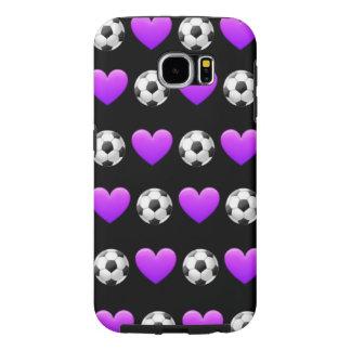 サッカーのEmoji Samsungの銀河系S6の電話箱 Samsung Galaxy S6 ケース