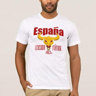 サッカーのEspaña Leyenda del futbollスペインの伝説 Tシャツ