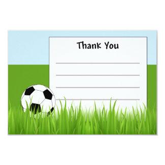 サッカーはメッセージカード感謝していしています 8.9 X 12.7 インビテーションカード