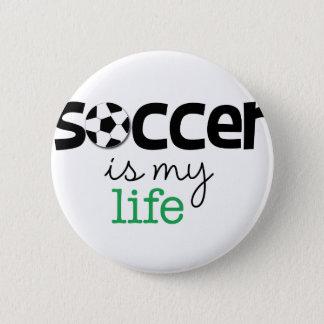 サッカーは私の生命です 缶バッジ