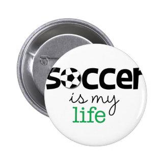 サッカーは私の生命です 5.7CM 丸型バッジ