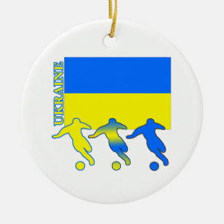 サッカーウクライナ セラミックオーナメント