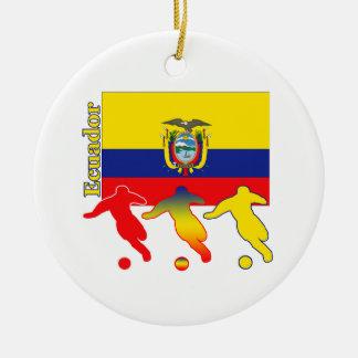 サッカーエクアドル セラミックオーナメント