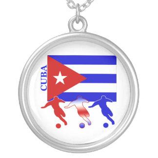 サッカーキューバ シルバープレートネックレス